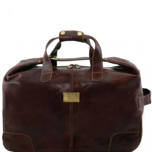 Tuscany Leather TL141537 Barbados - Sac à roulettes Marron foncé