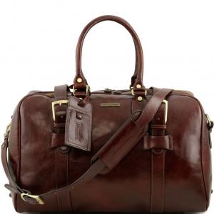 Tuscany Leather TL141249 TL Voyager - Sac de voyage en cuir avec boucles - Petit modèle Marron