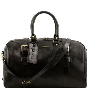 Tuscany Leather TL141248 TL Voyager - Sac de voyage en cuir avec boucles- Grand modèle Marron foncé