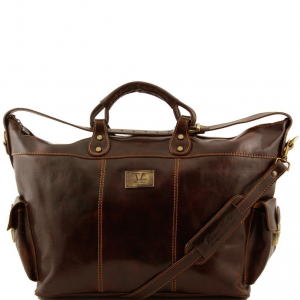 Tuscany Leather TL140938 Porto - Sac de voyage en cuir Marron foncé