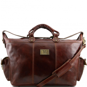Tuscany Leather TL140938 Porto - Travel leather weekender bag Brown