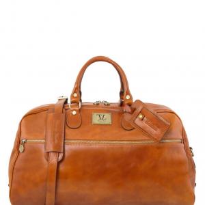 Tuscany Leather TL141422 TL Voyager - Sac de voyage en cuir - Grand modèle Miel