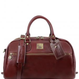 Tuscany Leather TL141405 TL Voyager - Sac de voyage en cuir - Petit modèle Marron