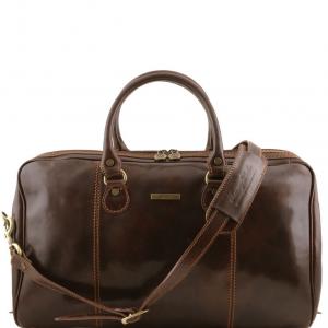 Tuscany Leather TL1045 Paris - Sac de voyage en cuir Marron foncé