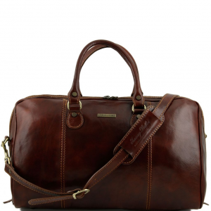 Tuscany Leather TL1045 Paris - Travel leather duffle bag Brown