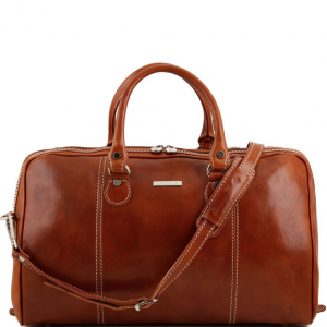 Tuscany Leather TL1045 Paris - Travel leather duffle bag Honey
