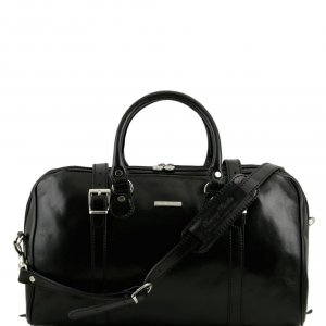 Tuscany Leather TL1014 Berlin - Sac de voyage en cuir - Petit modèle Noir