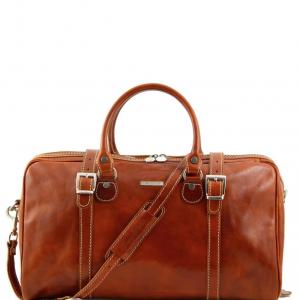 Tuscany Leather TL1014 Berlin - Sac de voyage en cuir - Petit modèle Miel