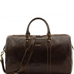 Tuscany Leather TL1044 Oslo - Borsa da viaggio in pelle Testa di Moro