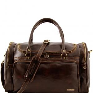 Tuscany Leather TL1048 Praga - Sac de voyage en cuir Marron foncé