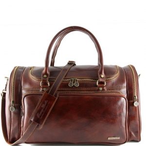 Tuscany Leather TL1048 Praga - Travel leather bag Brown