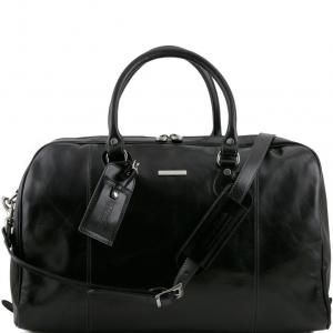 Tuscany Leather TL141218 TL Voyager - Sac de voyage en cuir Noir