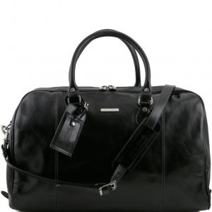 Tuscany Leather TL141218 TL Voyager - Travel leather duffle bag Black