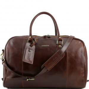 Tuscany Leather TL141218 TL Voyager - Travel leather duffle bag Brown