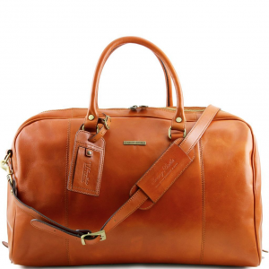 Tuscany Leather TL141218 TL Voyager - Travel leather duffle bag Honey