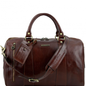 Tuscany Leather TL141216 TL Voyager - Travel leather duffle bag - Small size Brown