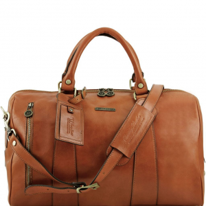 Tuscany Leather TL141216 TL Voyager - Travel leather duffle bag - Small size Honey