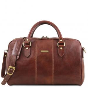 Tuscany Leather TL141658 Lisbona - Sac de voyage en cuir - Petit modèle Marron