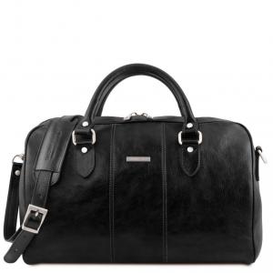 Tuscany Leather TL141658 Lisbona - Sac de voyage en cuir - Petit modèle Noir