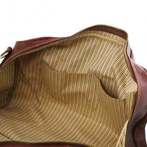 Tuscany Leather TL141658 Lisbona - Sac de voyage en cuir - Petit modèle Marron foncé