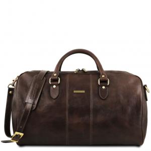 Tuscany Leather TL141657 Lisbona - Sac de voyage en cuir - Grand modèle Marron foncé