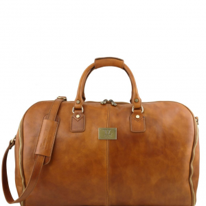 Tuscany Leather TL141538 Antigua - Travel leather duffle/Garment bag Natural