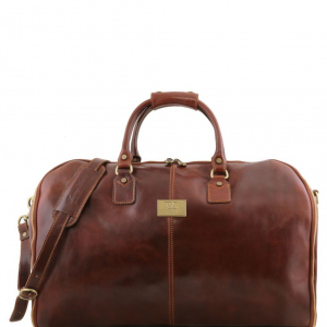 Tuscany Leather TL141538 Antigua - Travel leather duffle/Garment bag Brown