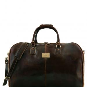 Tuscany Leather TL141538 Antigua - Sac de voyage/Housse de transport vêtements en cuir Marron foncé