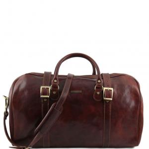 Tuscany Leather TL1013 Berlin - Sac de voyage en cuir avec boucles - Grand modèle Marron