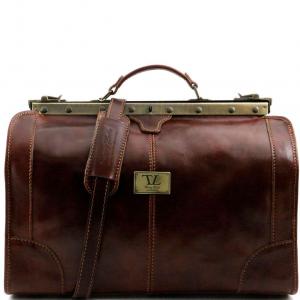 Tuscany Leather TL1023 Madrid - Sac de voyage en cuir - Petit modèle Marron