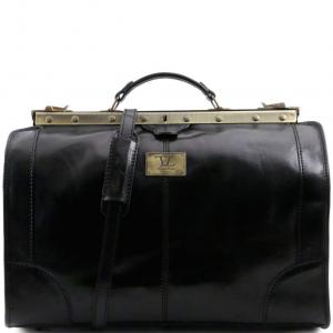 Tuscany Leather TL1023 Madrid - Sac de voyage en cuir - Petit modèle Noir