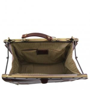 Tuscany Leather TL1023 Madrid - Sac de voyage en cuir - Petit modèle Marron foncé