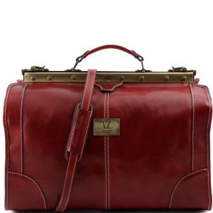 Tuscany Leather TL1023 Madrid - Sac de voyage en cuir - Petit modèle Rouge
