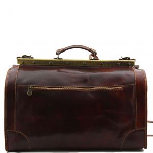 Tuscany Leather TL1023 Madrid - Gladstone Leather Bag - Small size Honey