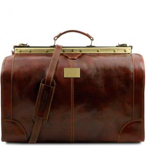 Tuscany Leather TL1022 Madrid - Borsa da viaggio in pelle - Misura grande Marrone