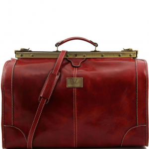 Tuscany Leather TL1022 Madrid - Gladstone Leather Bag - Large size Red