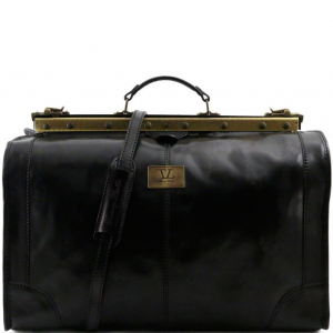 Tuscany Leather TL1022 Madrid - Gladstone Leather Bag - Large size Black