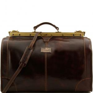 Tuscany Leather TL1022 Madrid - Sac de voyage en cuir - Grand modèle Marron foncé