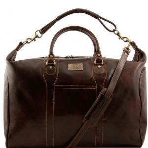 Tuscany Leather TL1049 Amsterdam - Sac de voyage en cuir Marron foncé