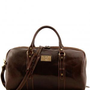Tuscany Leather TL140935 Francoforte - Sac de voyage en cuir - Petit modèle Marron foncé