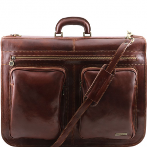 Tuscany Leather TL3030 Tahiti - Garment leather bag Brown