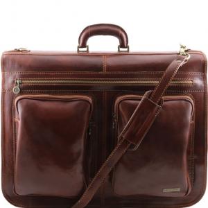 Tuscany Leather TL3030 Tahiti - Housse de transport vêtements Marron