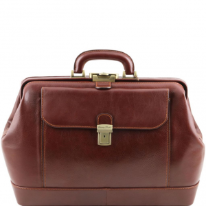 Tuscany Leather TL141299 Leonardo - Exclusive leather doctor bag Brown