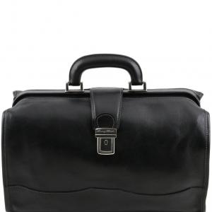 Tuscany Leather TL10077 Raffaello - Borsa medico in pelle Nero