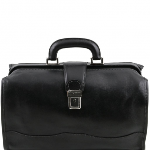 Tuscany Leather TL10077 Raffaello - Mallette medicale en cuir Noir