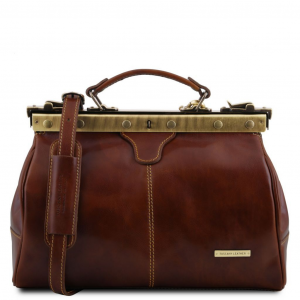 Tuscany Leather TL10038 Michelangelo - Doctor gladstone leather bag Brown