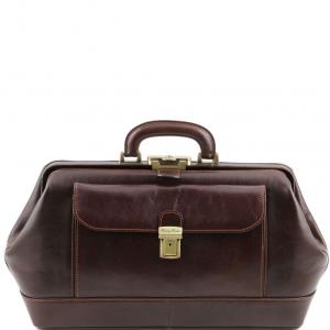 Tuscany Leather TL141298 Bernini - Exclusif Mallette médecin en cuir Marron foncé