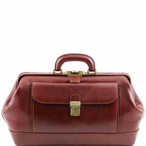 Tuscany Leather TL141298 Bernini - Exclusif Mallette médecin en cuir Marron