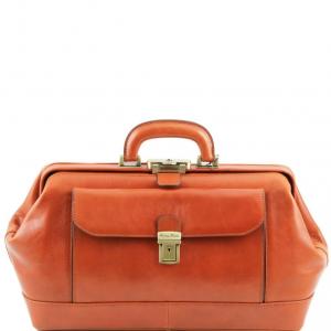 Tuscany Leather TL141298 Bernini - Exclusif Mallette médecin en cuir Miel