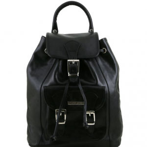Tuscany Leather TL141342 Kobe - Leather Backpack Black